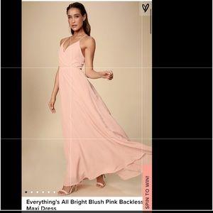 Blush backless maxi dress